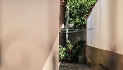 Casa onde o corpo foi encontrado. Foto: Henrique Arakaki/Midiamax