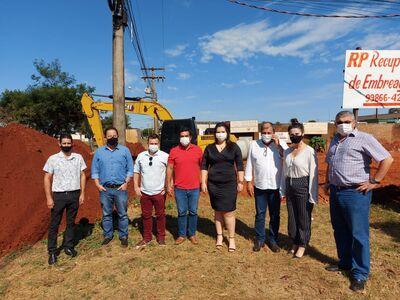 Comitiva tucana durante visita em Naviraí